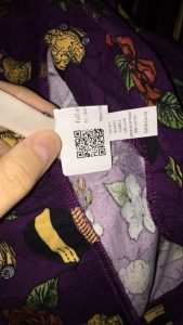 QR Labels on Leggings