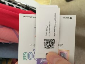QR labels on hang tags.