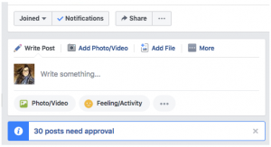 Facebook Group Pending Posts
