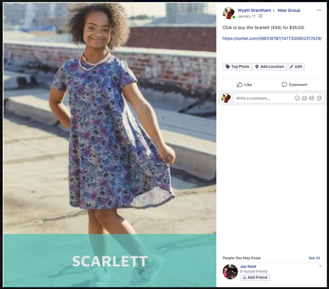 How to do a Facebook Album Sale with Sonlet